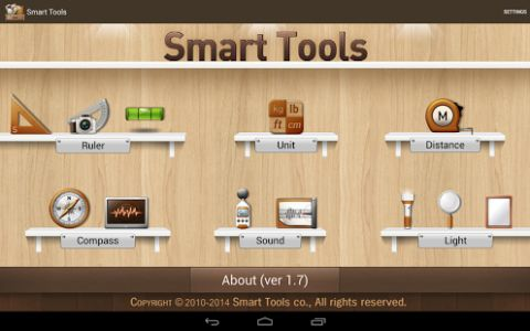 Smart Tools 1.7 APK is a complete package of 6 app sets. It includes 5 Pro sets for a total of 16 tools. In a word, All-in-One.