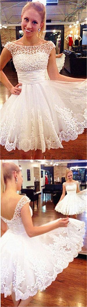short prom dress, white prom dress, junior prom dress, cheap prom dress, off shoulder prom dress