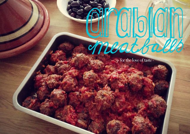 Arabian meatballs - B-day Bash dinner buffet cooking  http://fortheloveoftaste.wordpress.com/2013/06/28/arabian-meatballs/