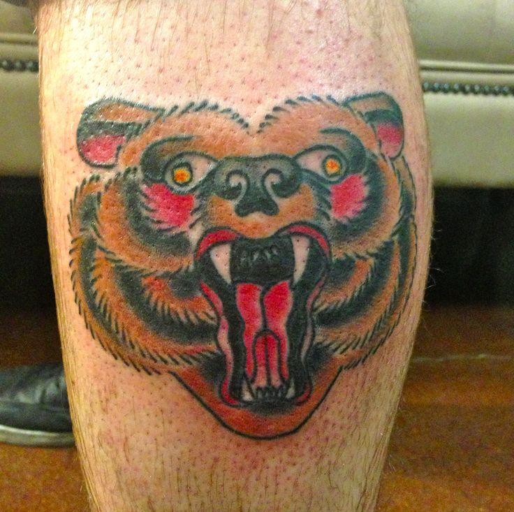 Traditional bear tattoo, J. Sommerfield | Tattoos | Pinterest