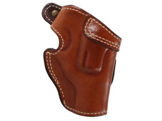 """Ross Leather Field Belt Holster Right Hand Ruger SP101 Hammerless 2.25"""""""" Barrel Leather Tan"""