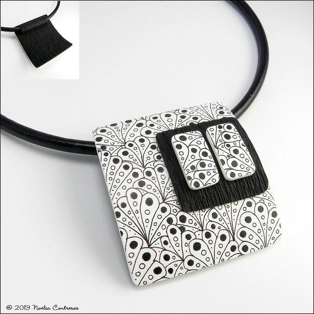 Untitled neck piece: ZIA with polymer clay | Noelia / Daoine Flickr - Photo Sharing!