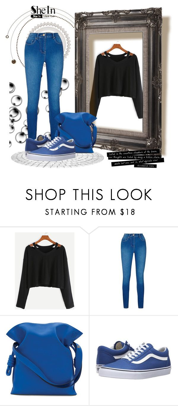 """Shein contest"" by christina-rosse ❤ liked on Polyvore featuring Loewe, Vans and shein"