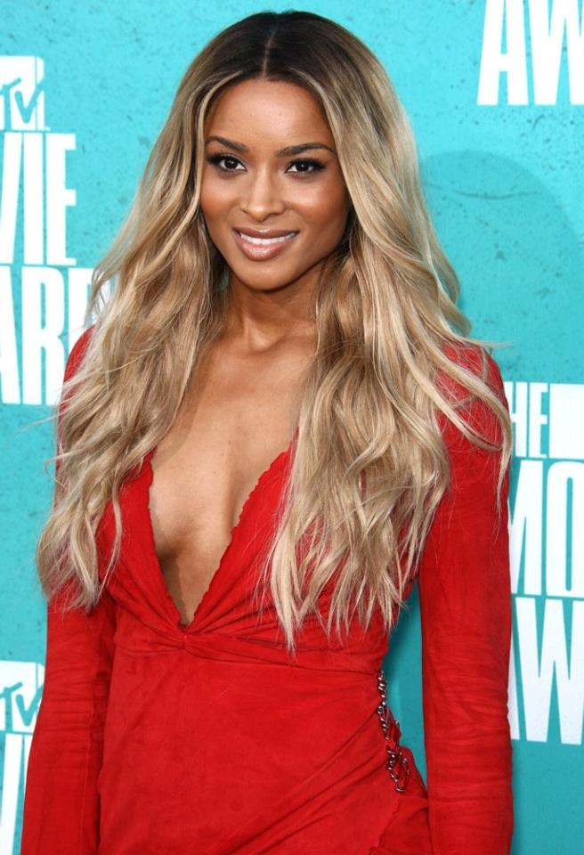 Ciara rocking that gorgeous virgin ombre hair