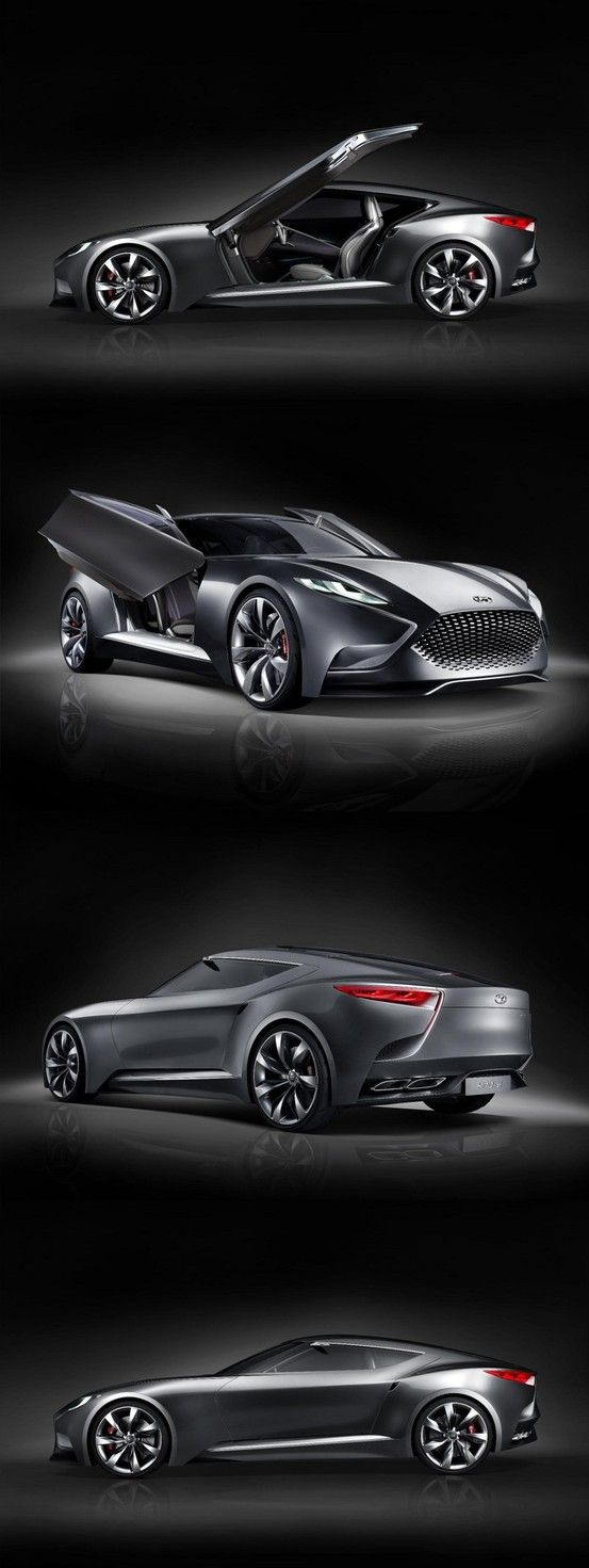 ♂ Grey car New Hyundai luxury sports coupe Concept HND-9 from http://www.boxautos.com/new-hyundai-luxury-sports-coupe-concept-hnd-9/