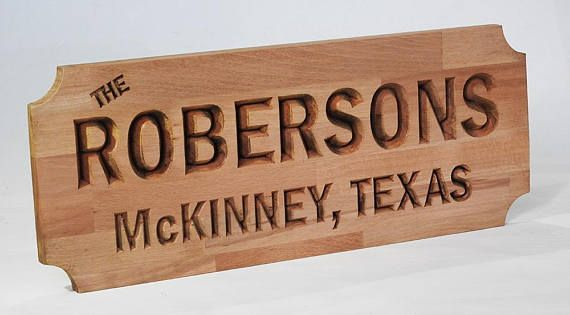 Personalised House Sign Carved wooden sign hardwood farm or
