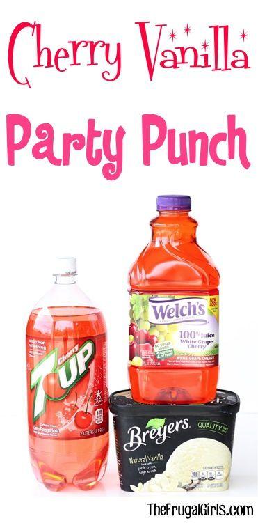 Cherry Vanilla Party Punch Recipe at TheFrugalGirls.com