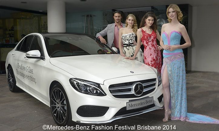 Models and Mercedes make for great photo opps