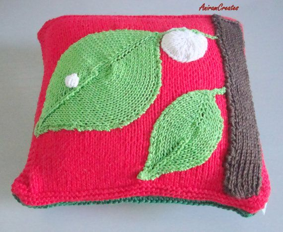 Hand knitted Very Hungry Caterpillar cushion by AniramCreates, £30.00