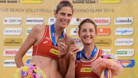 Canada's top ranked beach volleyball team is back on track with a third place finish this weekend in Russia. Heather...
