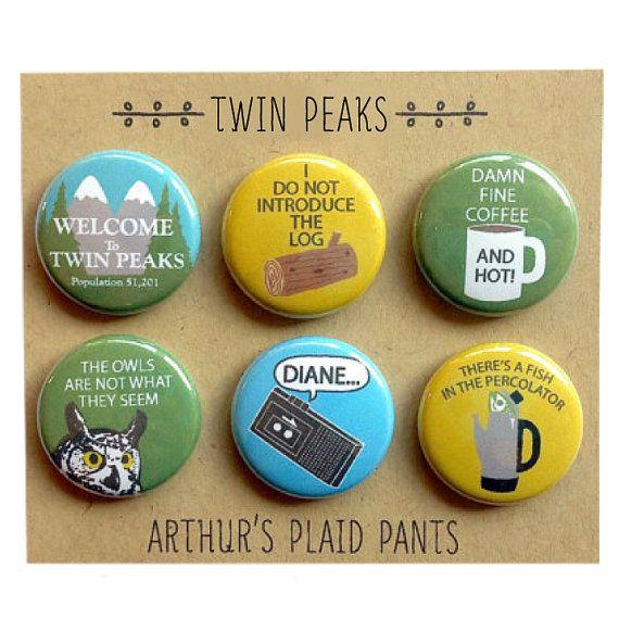 Twin peaks, twin peaks magnets, twin peaks magnet set -for Dayna