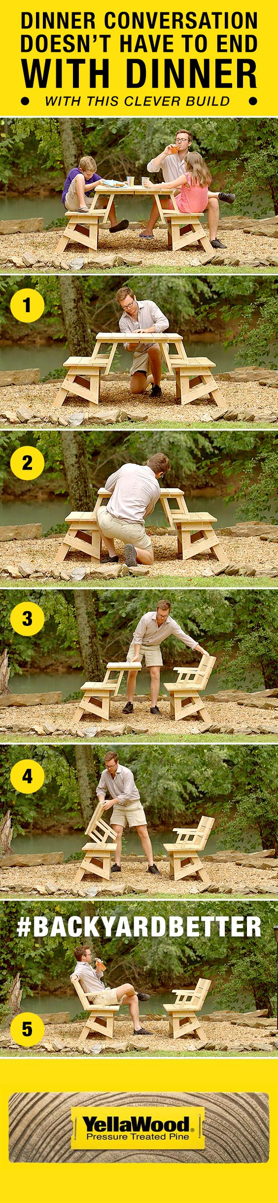 Dinner conversation doesn't have to end with dinner. This picnic table project plan is perfect for any dining occasion.