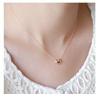 NK423 Colar Exo Bijoux Collier Vintage Maxi Gold Plated Heart Pendants Necklaces For Women Wedding Jewelry Wholesale Collares