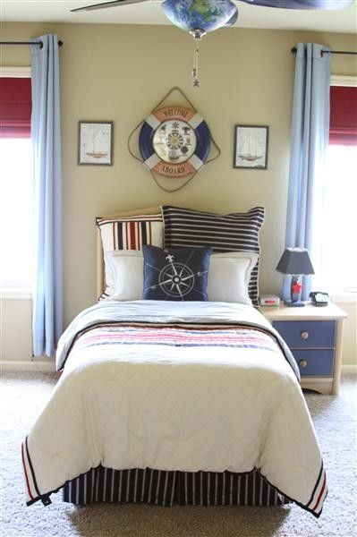 12 best nautica decor images on Pinterest Nautical theme, Room - nautical bedroom ideas