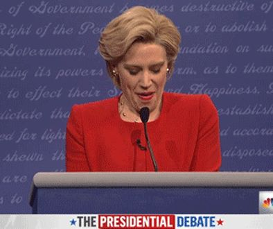 dance snl yes saturday night live win deal with it hillary clinton debate kate mckinnon happy dance shaq shimmy oh snap presidential debate shaquille o'neal touchdown dance hillary shimmy #humor #hilarious #funny #lol #rofl #lmao #memes #cute