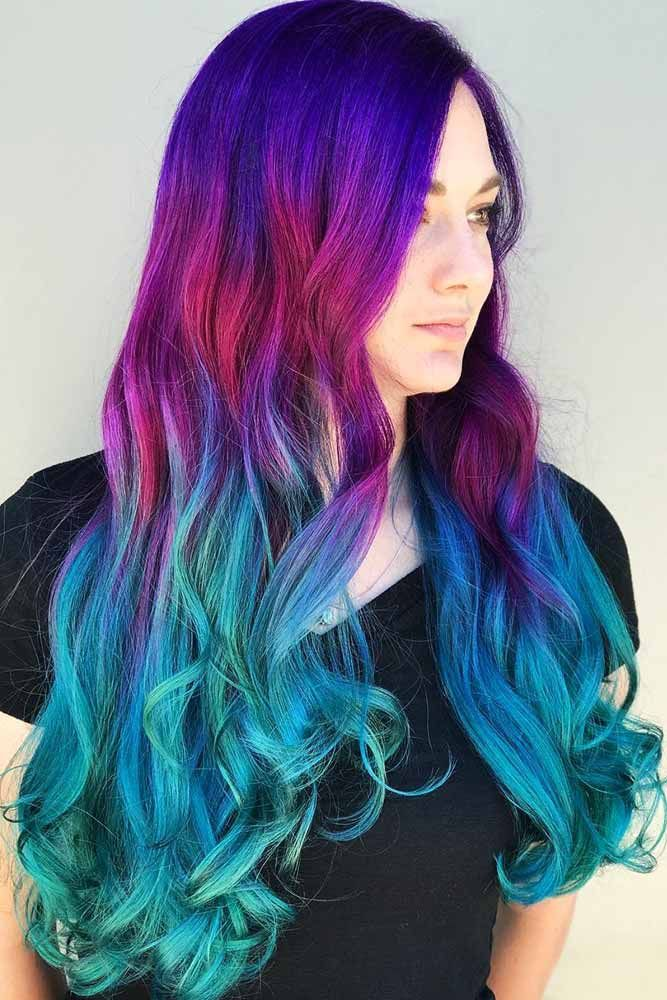 45 Trendy Styles For Blue Ombre Hair Lovehairstyles Com Teal Hair Brunette Hair Color Ombre Hair Blonde