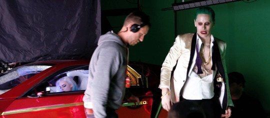JARED LETO and MORGOT ROBBIE  (making of  ''SUICIDE SQUAD'')