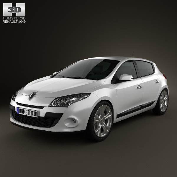 Renault Megane hatchback 2011 3d model from humster3d.com. Price: $75