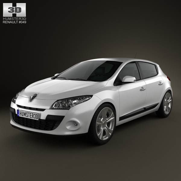 Renault Megane hatchback 2011 3d model from humster3d.com. Price: $75