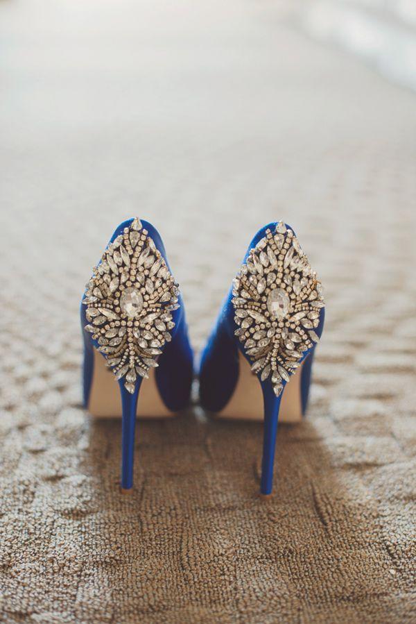 bejeweled wedding shoes - photo by Maria Mack Photography http://ruffledblog.com/romantic-wedding-at-john-james-audubon