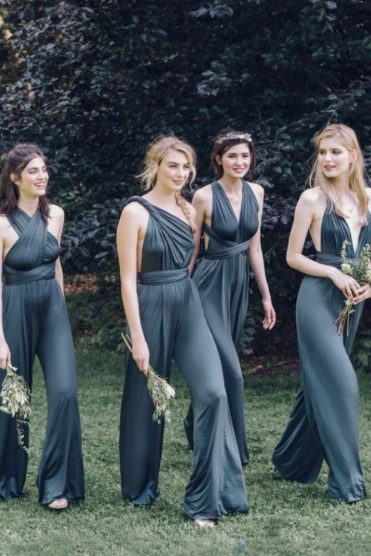 Formal Jumpsuit Who Said Your Las Have To Wear Dresses Why Not Let The Bridesmaids Be Just