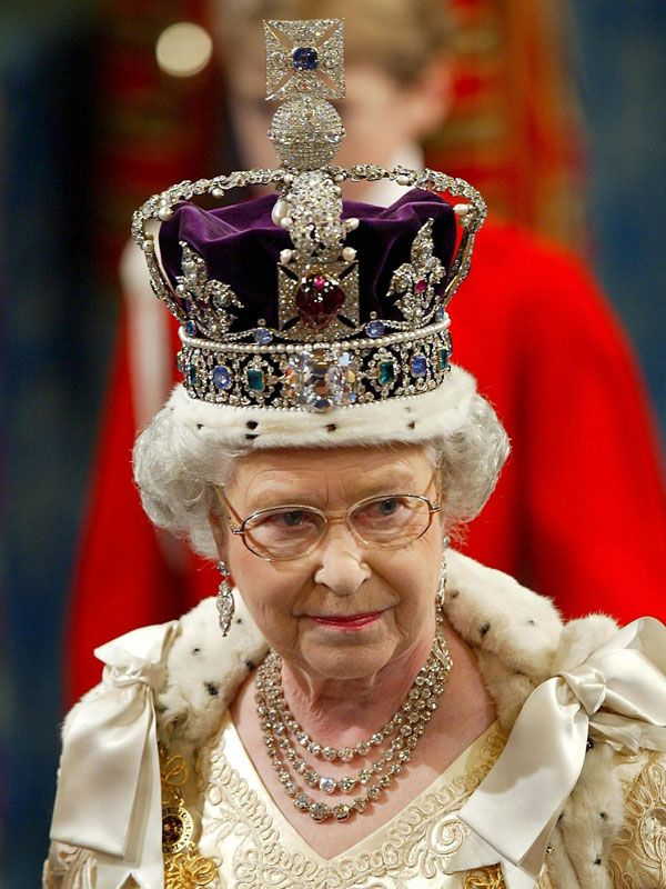 """The Black Prince's """"ruby"""" is really a 170 carat red spinel which has more colour than a ruby. It's in the front of the Imperial State Crown."""