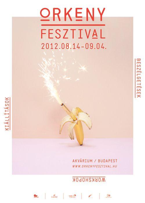 ÖRKENY FESTIVAL ID by Aron Filkey  #poster #typography #banana