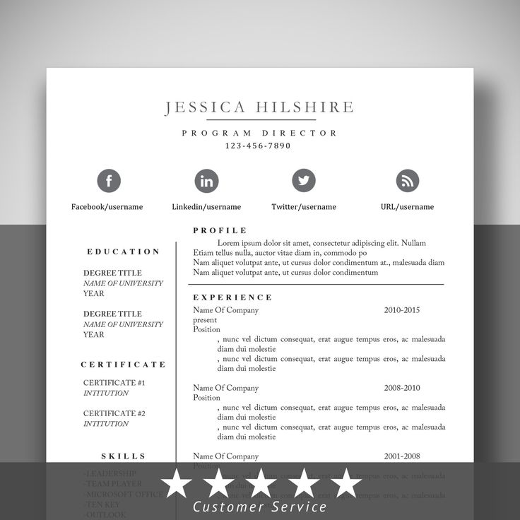 Modern Resume Templates Reference  #resume #template #cv >> ❤ Shared By ResumeExpert.Etsy.com ❤ >> Save and Repin!
