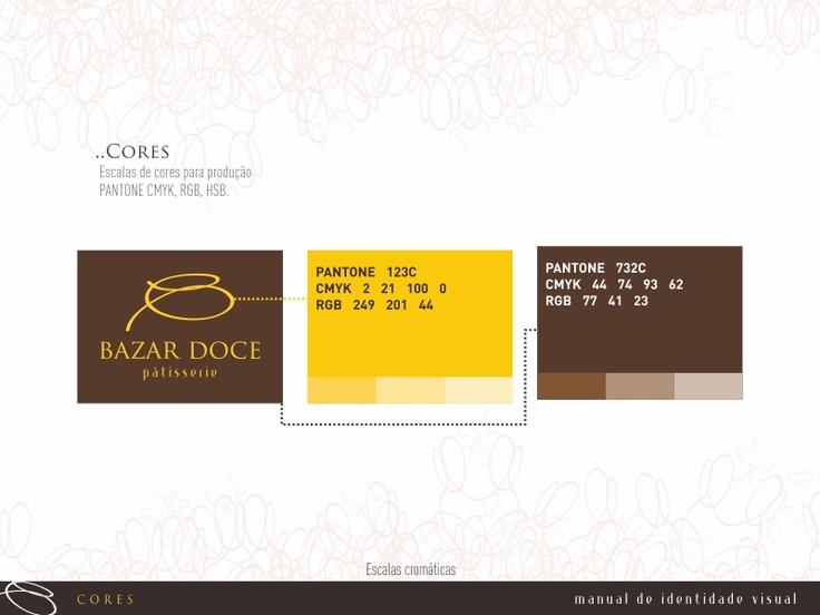 Foram criadas e desenvolvidas a logomarca para o Bazar Doce por COLA design Comunicação Visual Curitiba PR