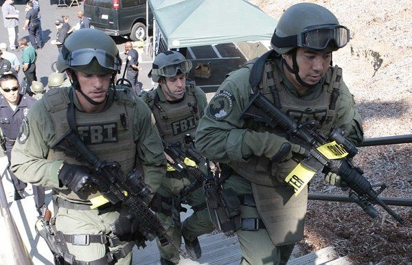 FBI(連邦捜査局) SWAT ベスト用IDパネル・パッチ   特殊部隊, 警察, 部隊