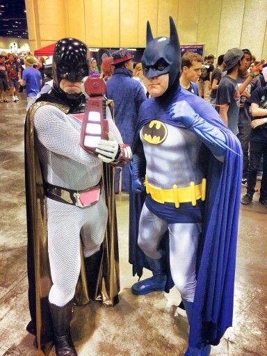 space ghost and batman cosplay - Space Ghost Halloween Costume