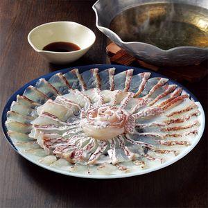 High quality fish shabushabu with the special Japanese soup  だし汁にくぐらせて、ポン酢で味わう格別な一品。【活〆真鯛しゃぶしゃぶ】