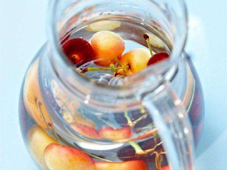 Pineapple, cherries, and apples detox water