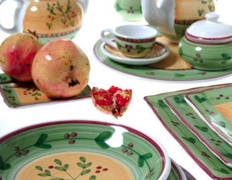 ceramica decorata a mano caleca artigianale Ribes