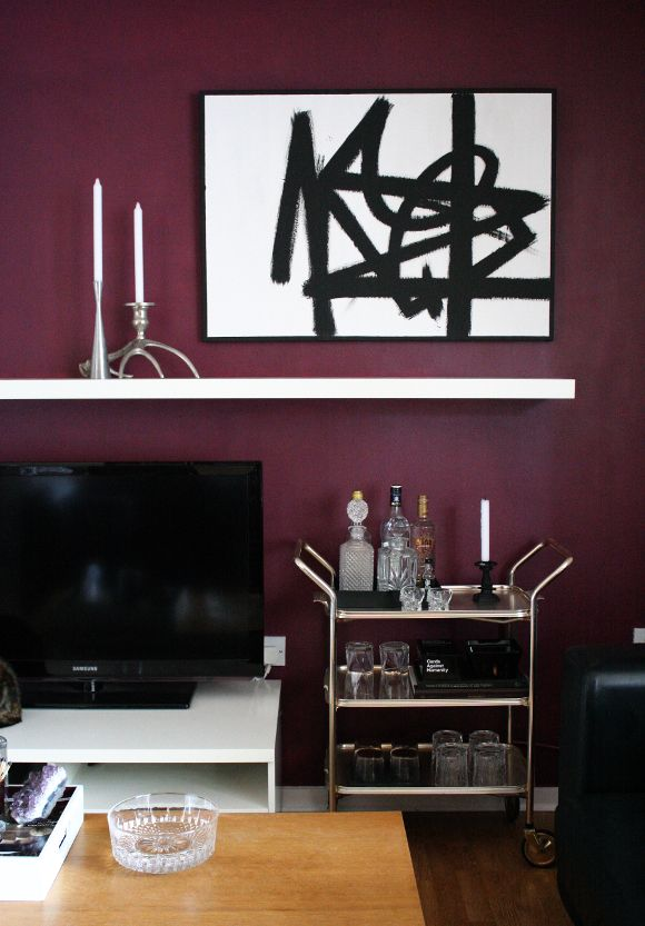 Feature this - (a second) burgundy wall                                                                                                                                                      More
