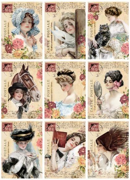 Vintage ladies printable