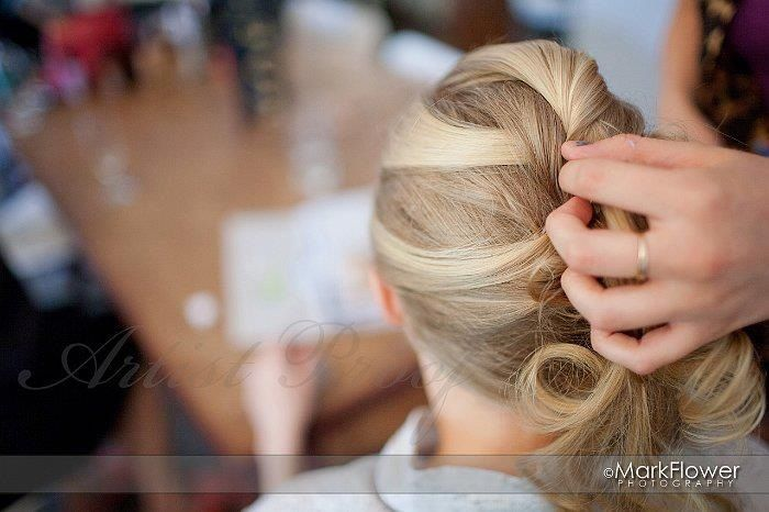 behind the scenes bridal hair