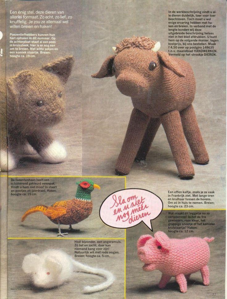 Diverse gebreide dieren | Knuffels-breien-en-haken.jouwweb.nl