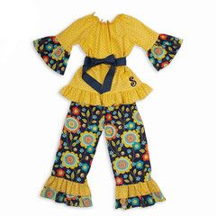 Check out this Mustard Chevron Navy Floral Medallion Sash Pant... for $39 or find your favorite gifts at Lolly Wolly Doodle. Click on the link to receive three dollars off your next order!