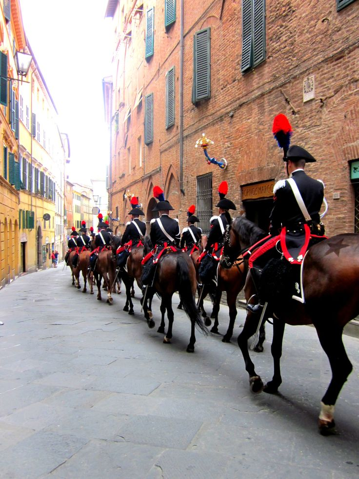 ~Palio. Siena. Carabinieri Tuscany~ The Palio di Siena is a horse race that is…