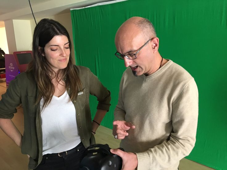 #VR · Jacqueline, our Creative Director, checks out the HTC Vive with Gianluca, our Strategic Partner · March, 2017 · https://www.bvirtual.com