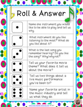 Ice Breaker for Middle School Music Students ♫ Music teachers, use this fun first day of school activity to engage your middle school students! ♫ You can play along too so the students learn a little about their new classmates and their