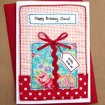 Personalised Present Girls Birthday Card