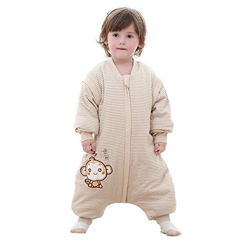 Baby Thickness 100% Organic Cotton Split Sleeve Wearable Blanket Winter Sleeping Bag - $45.99