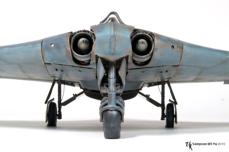 Gorgeous engineer marvel of Luftwaffe late WWII, great kit by Zoukei-Mura as well  kit: Ho-229 Horten  scale: 1/32  brand: Zoukei-Mura造型村   ...