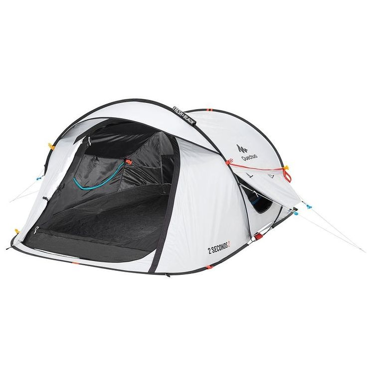 Bergsport_Zelte Camping  - Wurfzelt 2 Seconds Easy 2 Fresh&Black 2 Pers QUECHUA - Zelte