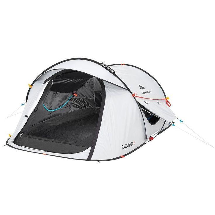 Bergsport_Zelte Camping  - Wurfzelt 2 Seconds Easy 2 Fresh&Black 2 Pers QUECHUA - Zelte