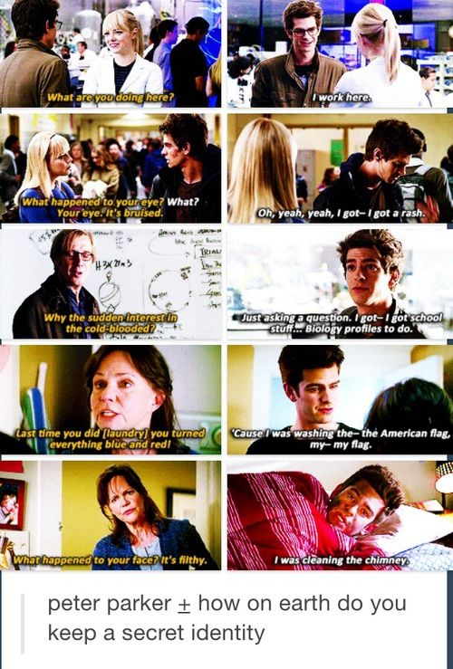 Peter Parker is so funny. Spiderman 2. Amazing spiderman. Marvel. Movie.