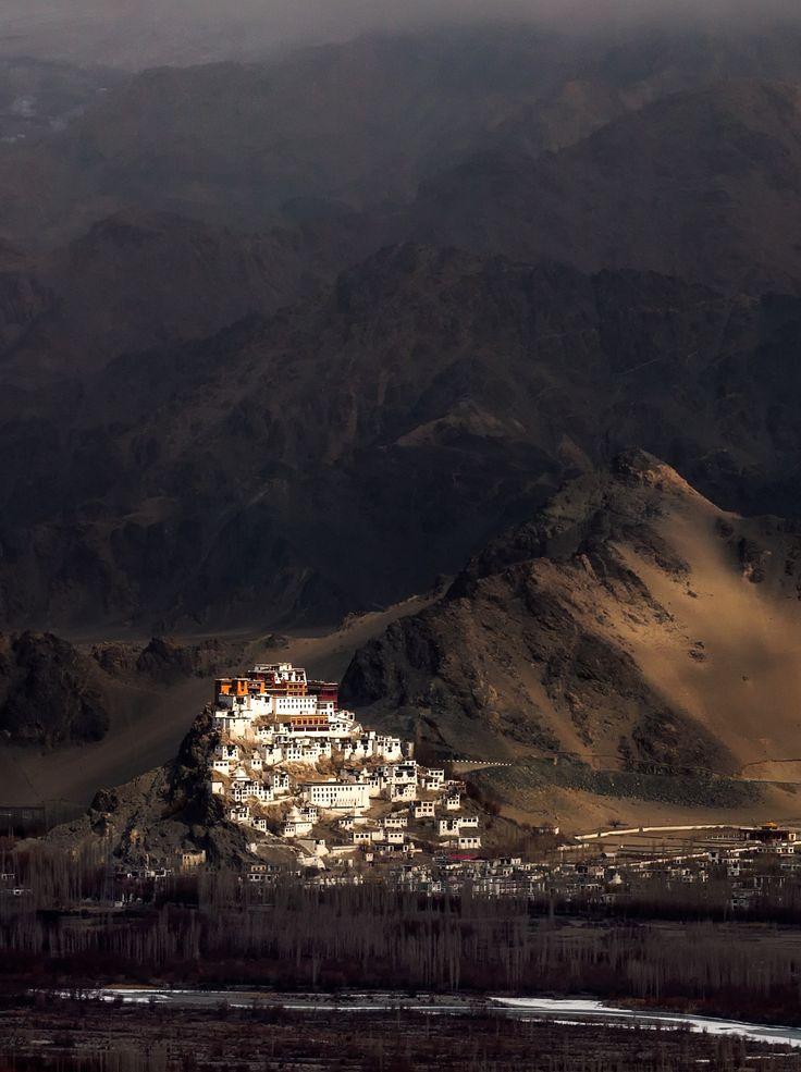 Nature's Spotlight - Spotlight on Thiksey Monastery Leh, Ladakh.