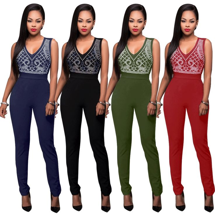 Womens Sexy Sleeveless Clubwear Party Cocktail Evening Playsuit Jumpsuit Romper #Unbranded #Jumpsuit
